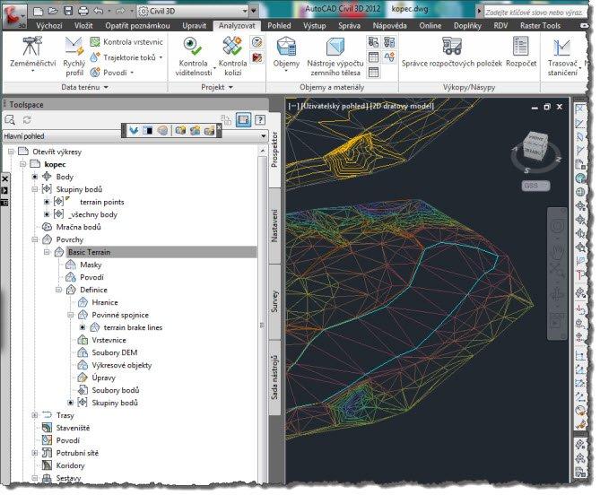 Tvorba povrchu / 3D terénu (nielen v AutoCAD Civil 3D) | CAD