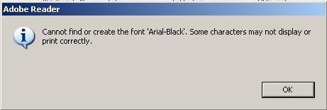 find font in a pdf